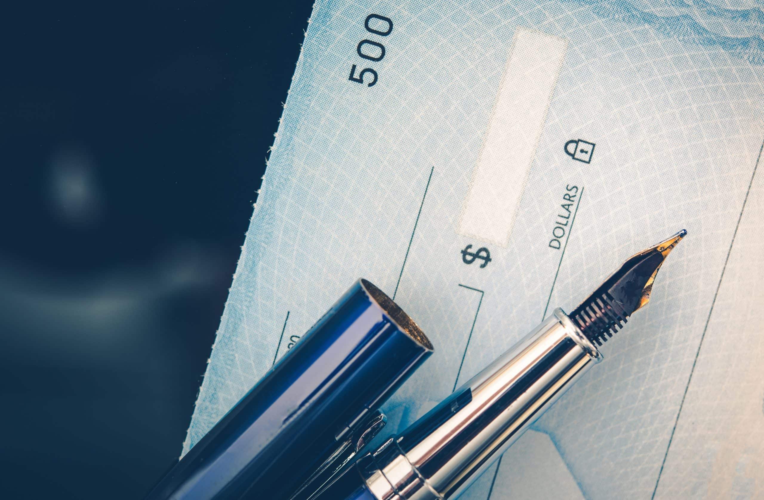 Don par chèque